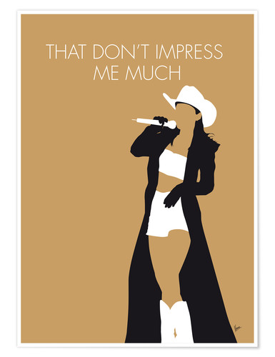 premium poster shania twain that don t impress me much