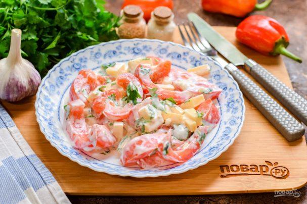 Салат с чесноком