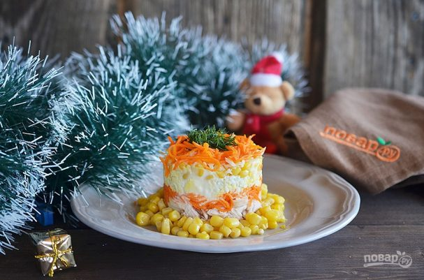 "prazdnichnii salat quotyarkaya fantaziyaquot 462746 - Festive salad ""Vivid imagination"""