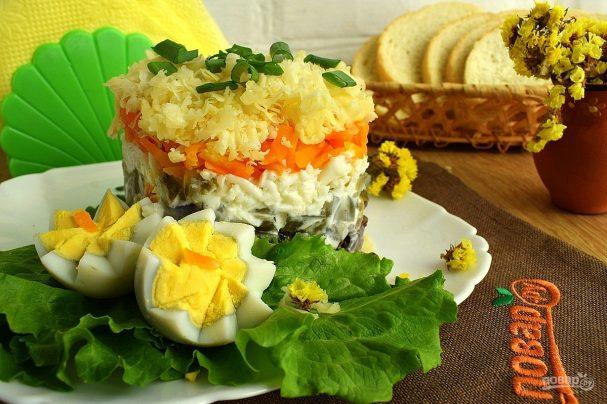 salat iz kurinoi pecheni sloenii 371767 - The chicken liver salad puff