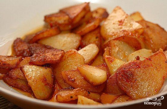 Картошка, жареная в мультиварке