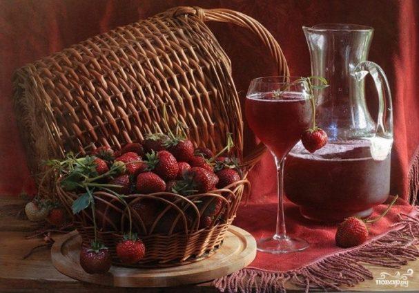 nalivka iz klubniki 61182 - Infusion of strawberries