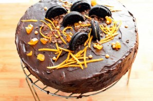 Шоколадный торт «Мокко-апельсин» - фото шаг 12