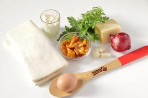 Новогодние волованы с сыром и грибами - фото шаг 1