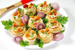 Новогодние волованы с сыром и грибами - фото шаг 9