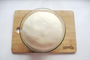 Ζύμη για ζύμη πίτσας - φωτογραφία Βήμα 3