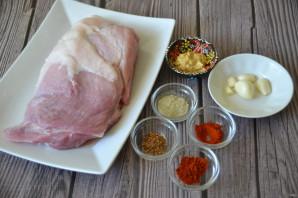 Svinekjøttbakt i ovnen i folie - Foto Trinn 1