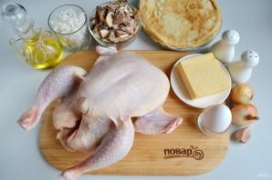 Курица, фаршированная блинами (праздничная) - фото шаг 1