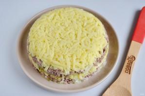 Новогодний салат с печенью - фото шаг 12