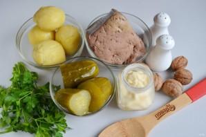 Новогодний салат с печенью - фото шаг 1