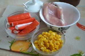 Салат с курицей и кукурузой - фото шаг 1