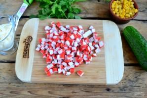 Crab σαλάτα συνταγή κλασική - φωτογραφία Βήμα 2