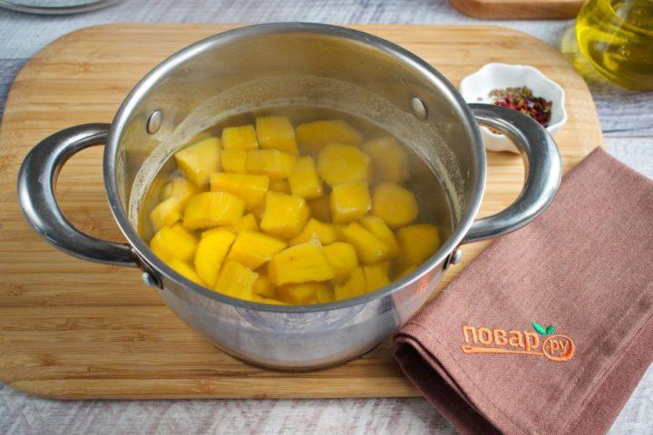 Крем-суп из сладкого картофеля