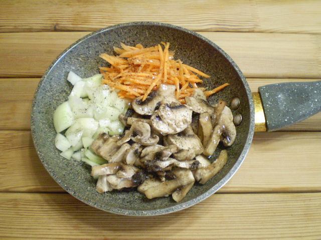 Постные щи из свежей капусты с грибами