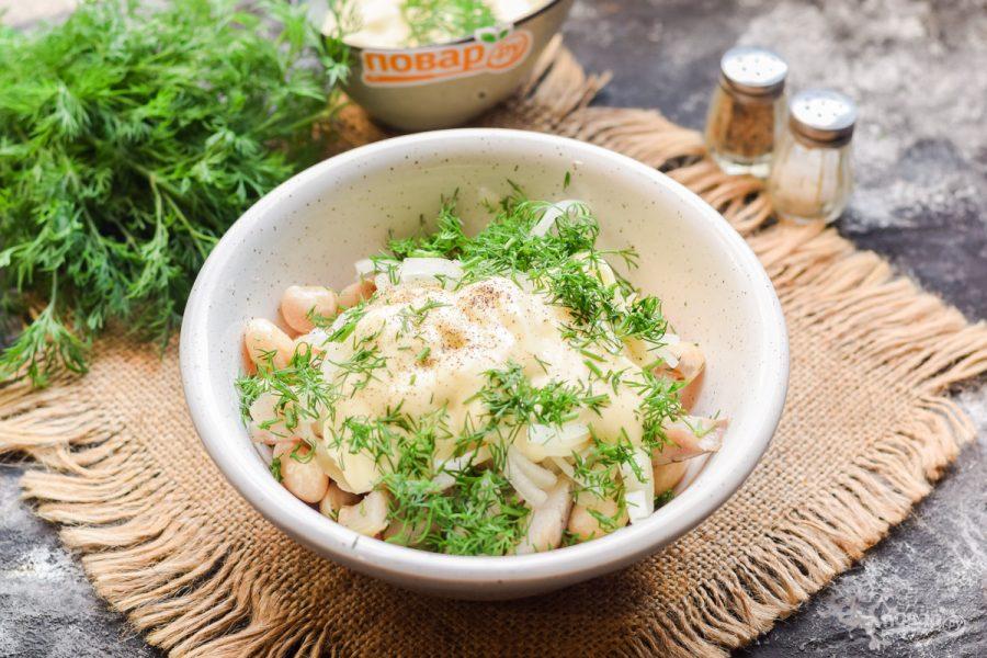 Датский салат с фасолью