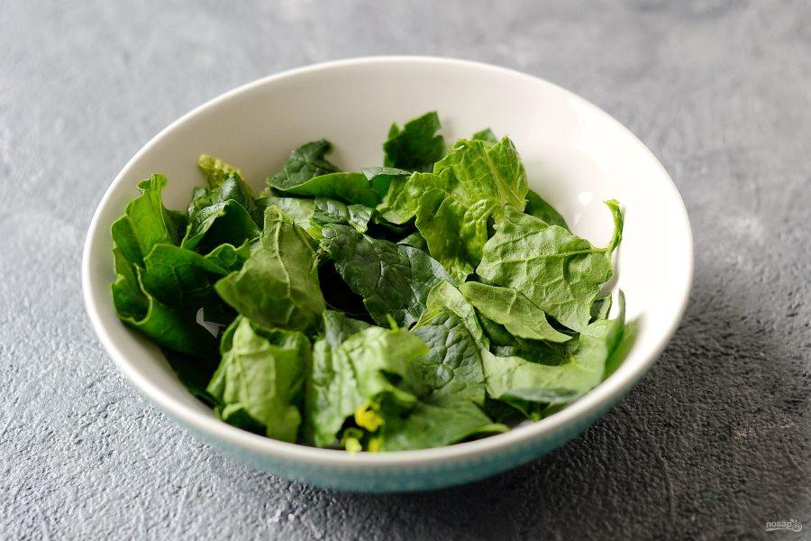 Салат со шпинатом, орехами и гранатом