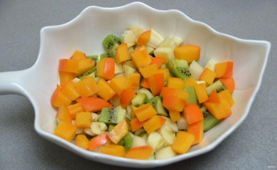 Постный фруктовый салат