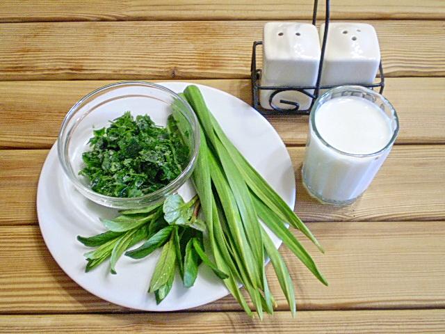 Кефир с зеленью