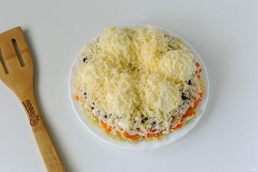 """Салат """"Снежные сугробы"""" с грибами"""
