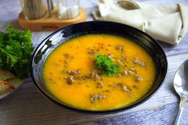 Острый тыквенно-морковный суп