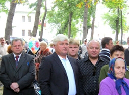 Башун з Євстифєєвим приїхали на День селища Коцюбинське, аби оглянути свої тисячі гектарів