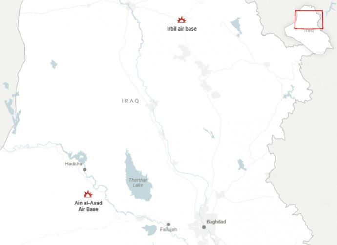 В Іраку ракетами обстріляли авіабазу США