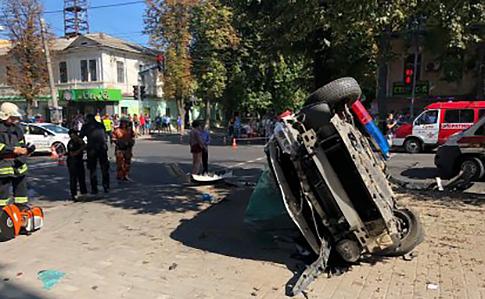 У Сумах в ДТП за участю патрульних постраждало 7 людей