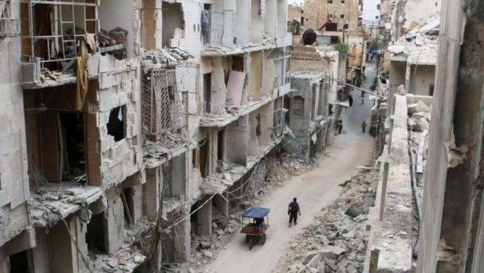 Розбомблене сирійське місто Алеппо
