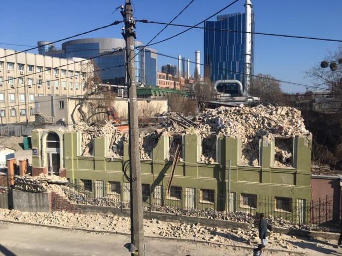 Зруйнований будинок Уткіна