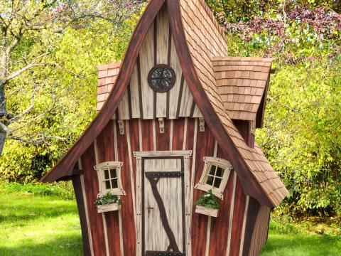 hexenhaus für garten märchenhaftes gartenhaus, schlüsselfertig online kaufen