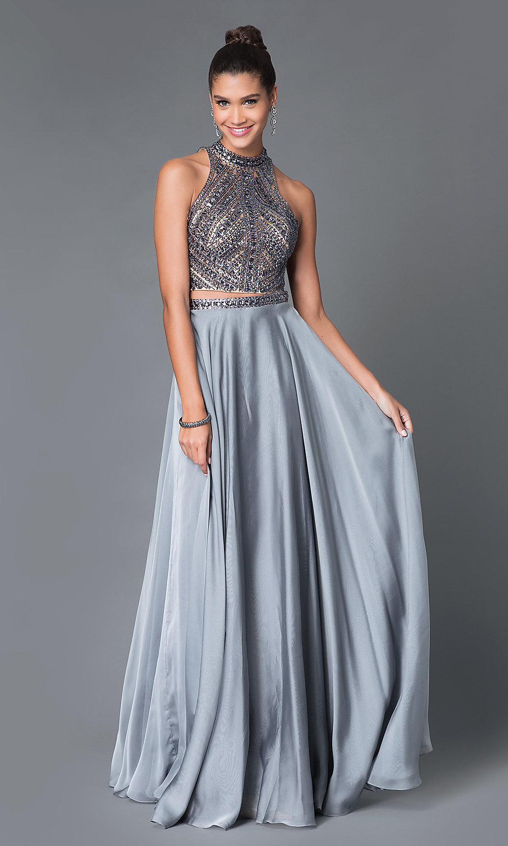 Image Result For Bridesmaid Jewelry For Halter Dress