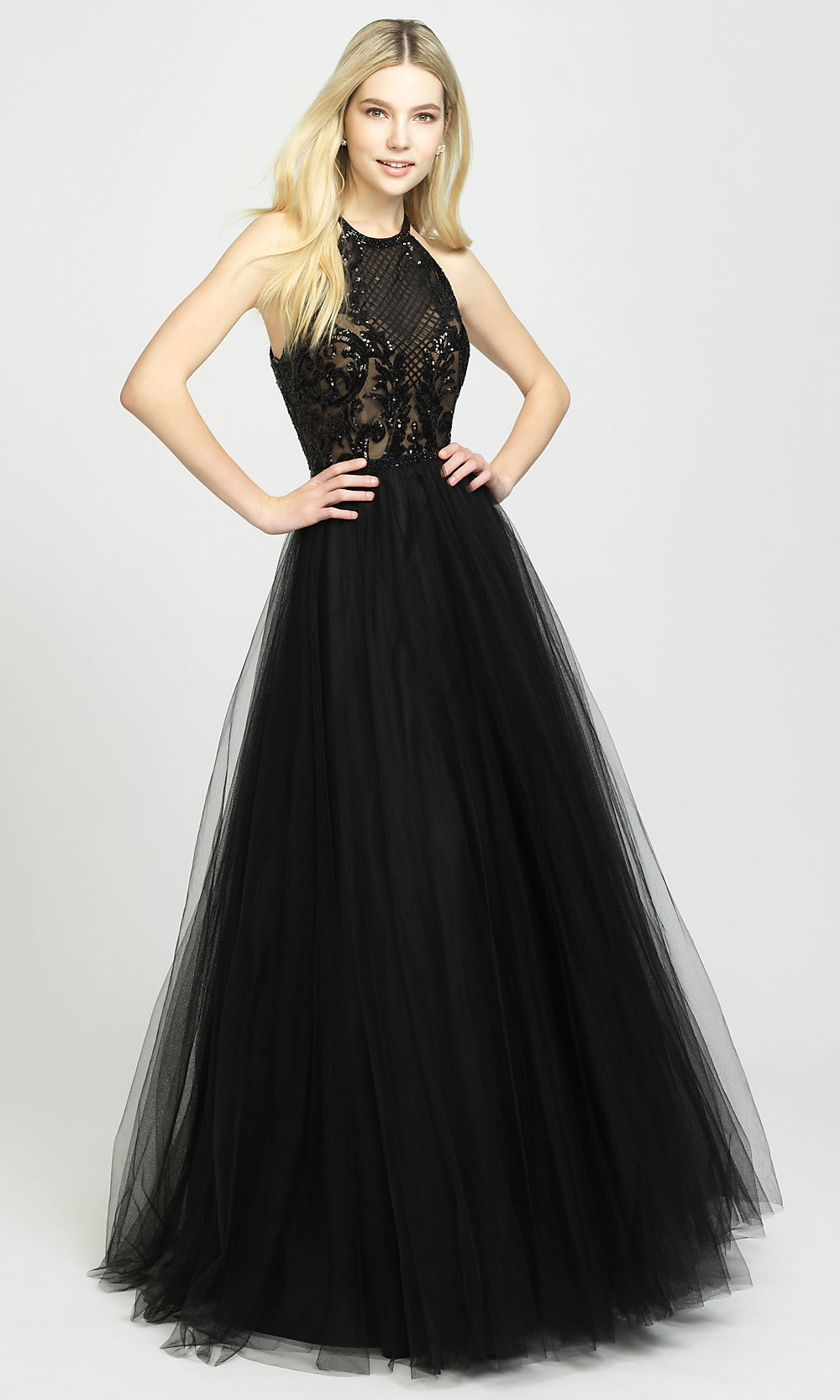 Tulle Ball-Gown-Style Designer Prom Dress - PromGirl