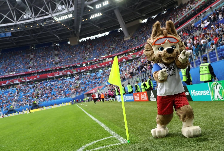 O lobinho Zabivaka é o mascote da Copa da Rússia 2018