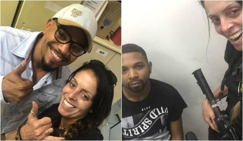 Fotos de policial com Naldo e Rogério 157 viralizaram nas redes sociais