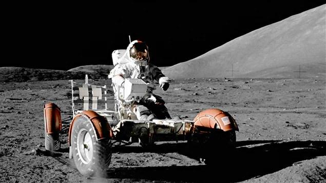 Eugene Cernan lors de la dernière mission lunaire, Apollo 17, le 11 décembre 1972.