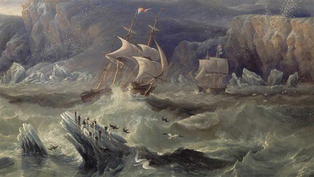 Les deux bateaux de l'expédition Franklin