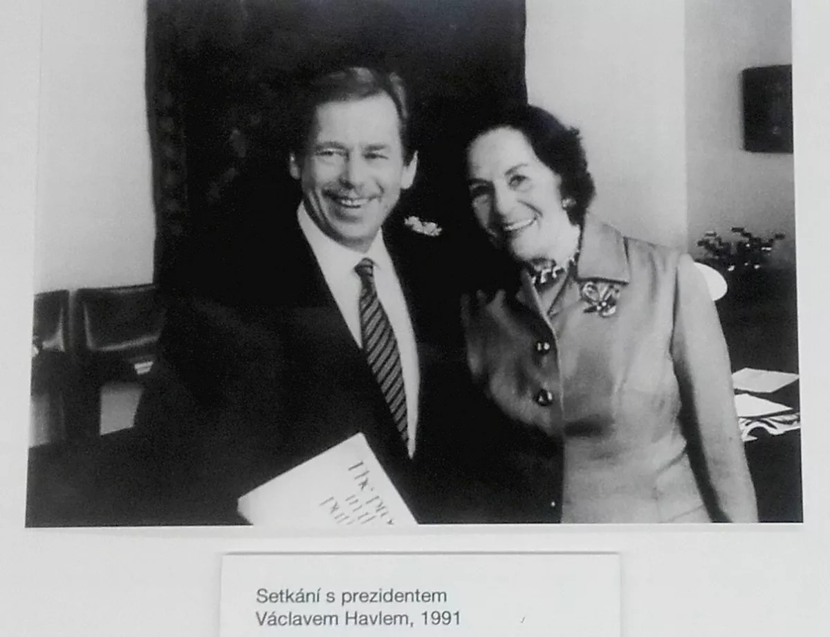 Image result for Jarmila Novotná With Václav Havel in 1991