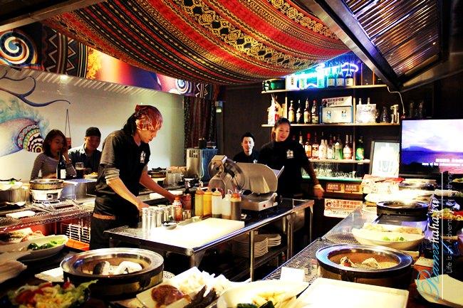 台北-信義區-巴布武運-101煙火-原住民風味餐廳-燒烤-啤酒-聚會-跨年-推薦