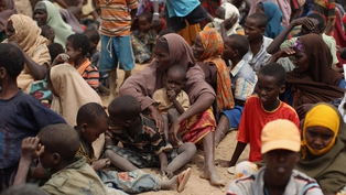 Kenya - Refugees in Dagahaley, which makes up part of the Dadaab refugee settlement