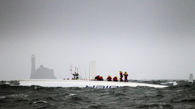 Rambler 100 overturned off Cork coast