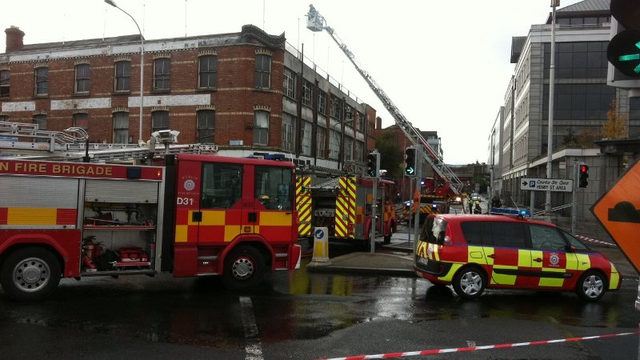 Seven units of the fire brigade were at the scene (Pic: Ray Kennedy)