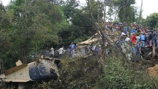Plane carrying foreign tourists crashes near Kathmandu