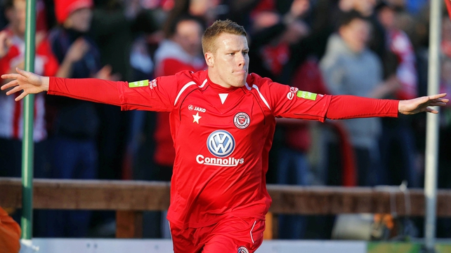 Danny North celebrates his goal
