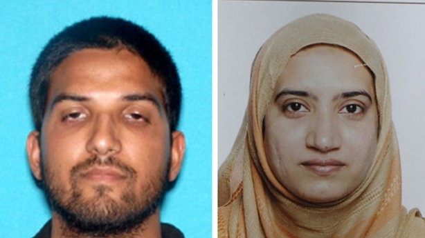 US-born Syed Farook and his Pakistani wife Tashfeen Malik