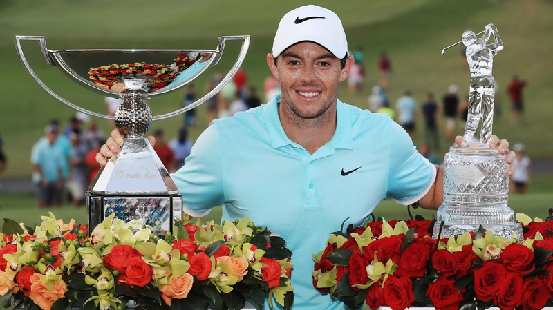 Image result for Rory McIlroy fedex trophy image