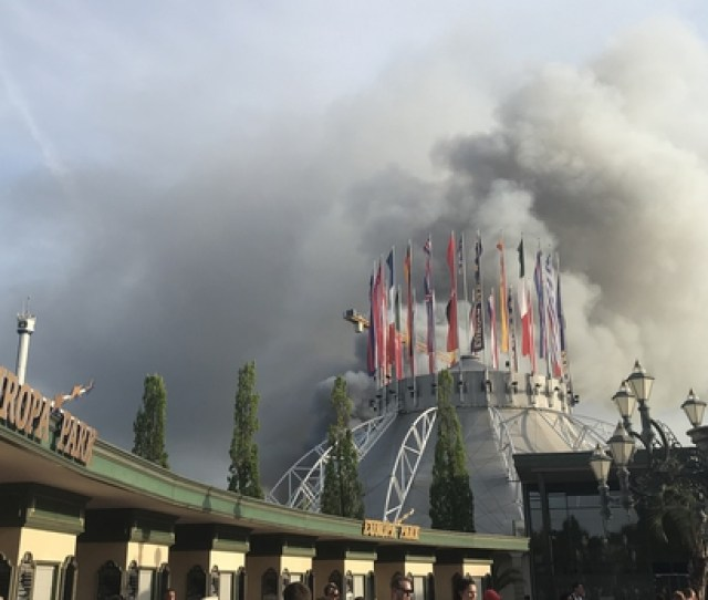 Dramatic Images Of The Raging Fire Were Widely Captured By Visitors To The Theme Park In Rust Southwestern Germany And Shared On Social Media