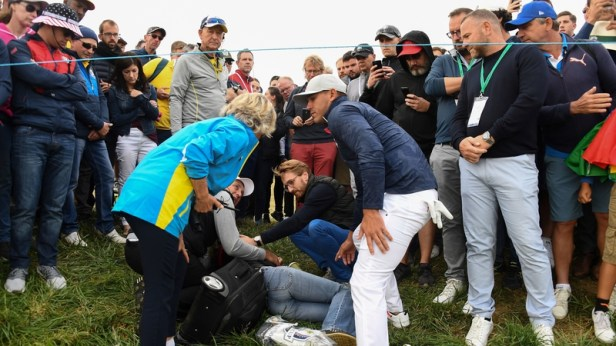 Corine Remande has lost the sight in one eye after being struck by a tee-shot