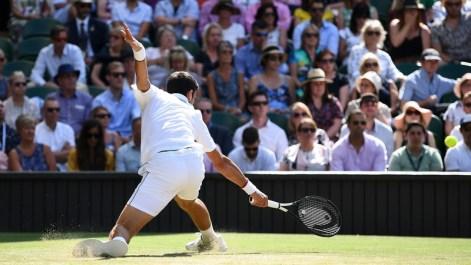Novak Djokovic will face either Rafa Nadal or Roger Federer in the final