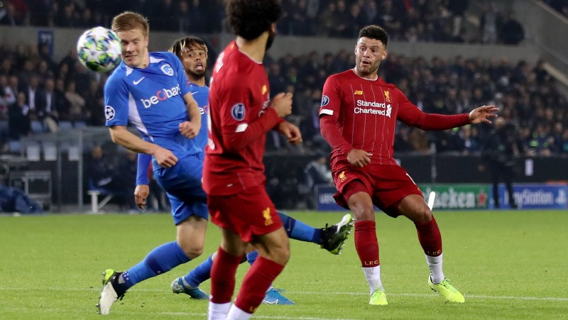 Ox double drives Liverpool to victory in Belgium