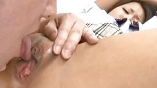 Miku Misato gets tongue_and sucked_joystick porn image
